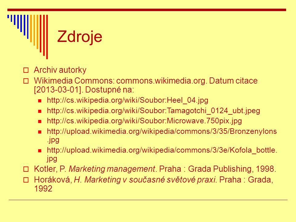 Zdroje Archiv autorky. Wikimedia Commons: commons.wikimedia.org. Datum citace [2013-03-01]. Dostupné na: